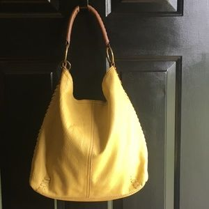 Lucky Brand Whipstitch Large Leather Hobo Bag